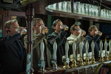 "In ""The World's End"" (pictured), Simon Pegg and Nick Frost invert their familiar screen dynamic, with Pegg playing the bad influence."