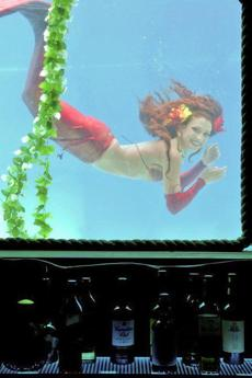 Wreck Bar in FortLauderdale is home to the MeduSirena mermaid show.