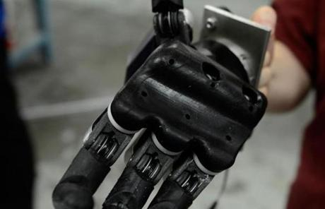Another local company, iRobot, designed the hand for the robot.