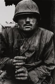 "Don McCullin's ""Shell-Shocked Marine, Hue, Vietnam"" at the Currier Museum of Art."