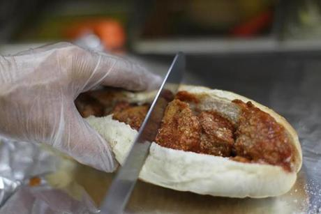 One of Paul Ursino's specialty meatball subs.