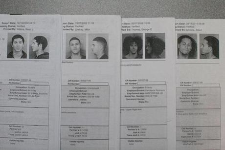 Booking photos show Alemany at 18, 19, 21, and 25.