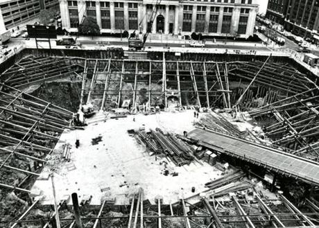 October 25, 1969: The Hub's biggest hole in the ground in 1969 was the Hancock foundation in Copley Square.