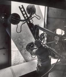 May 29, 1974:  With the help of giant suction devices, glazier Lennie Fabiano, installed a pane of tempered glass on the 58th floor of the John Hancock Tower. The company planned to install 10,344 such panes over the next nine months to replace windows of Thermopane glass which