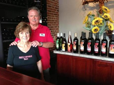 Judi and William Hatzman bought wines they knew well and now pour tasting glasses at their Grizzly Republic Wines in Paso Robles.