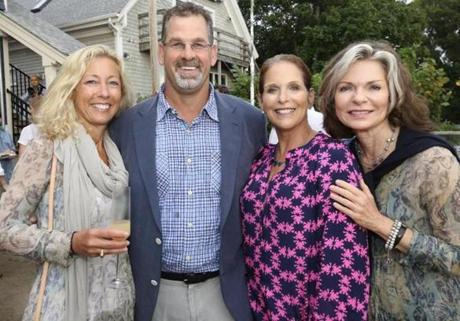 From left: Jacqueline and David Nolan, Melissa Beford,  and Barrie Murray, all of Falmouth.