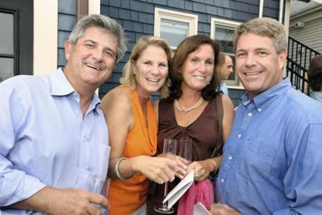 From left: Jamey and Laura Shachoy of Marion and Laurie and Jay Kassabian of Mattapoisett.