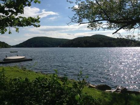 Nearby Lake Waramaug is a picturesque place to fish or  swim or go boating.