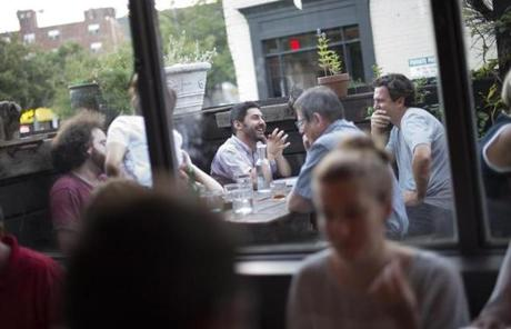 Diners on Wednesday enjoyed the outdoor patio of Bronwyn, which opened this past year in Union Square.
