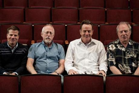 "From left: ""All the Way"" director Bill Rauch, playwright Robert Schenkkan, and Bryan Cranston, who stars as President Lyndon Johnson."