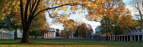 Charlottesville's sights include the University  of Virginia, founded by Jefferson in 1819.