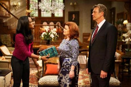 "Tika Sumpter, Renee Lawless, and John Schneider, from the OWN channel's new Tyler Perry Show ""The Haves and the Have Nots."""