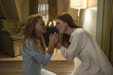 "Chloe Moretz and Julianne Moore in ""Carrie."""