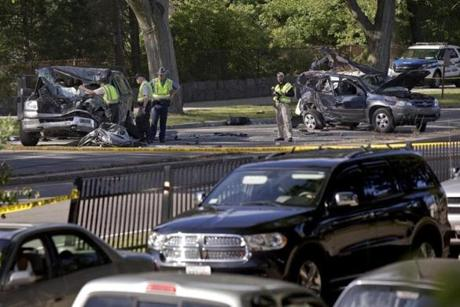 ASept. 6 crash on the Arborway in Jamaica Plain injured six people, including one victim who is still in a coma and another with life-altering brain and spine injuries.