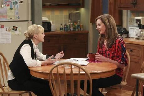 "Anna Faris (left) and Allison Janney in the  CBS comedy ""Mom."""