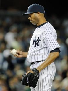Mariano Rivera allowed the Red Sox to tie the game in the 9th inning.