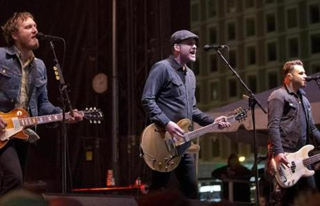 The Gaslight Anthem was one of the acts to perform at the festival.