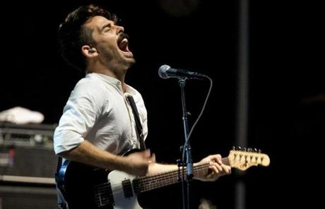 Local Natives will head on to St. Louis for LouFest. Pictured: Lead singer Taylor Rice.