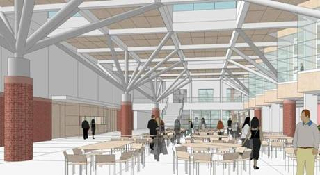 A rendering of the proposed dining area at Winchester High School.