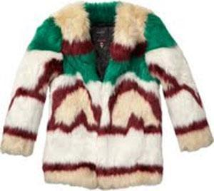 This Maison Scotch jacket is fake fur.