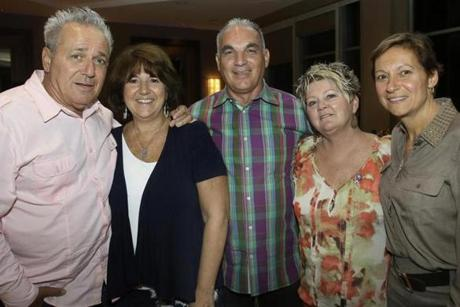 From left: Guy Mirisola, Donna Crosby, Robert Pacitti and his wife, Sharen,  and Lori Miller, all of South Boston.