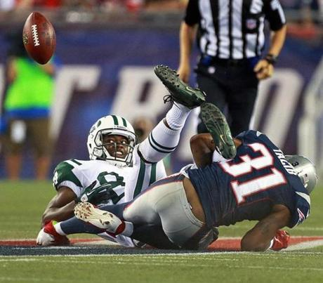 The Patriots hosted the Jets for their home opener at Gillette Stadium.