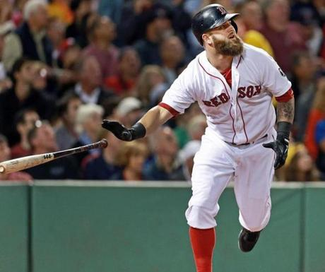 Mike Napoli had a two-run homer in the first inning.