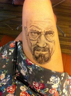 Since entering Emerson College in 2011, Jody Steel has been using her leg as a canvas, producing portraits such as Bryan Cranston from