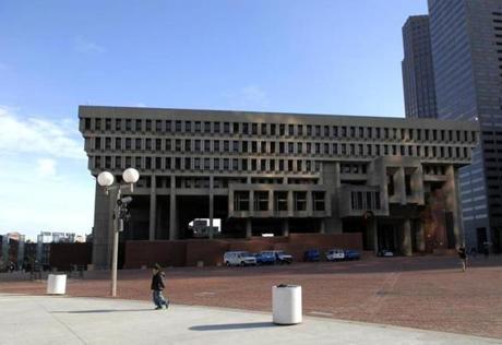 Since it was built in the late 1960s, City Hall has been a building that many Bostonians love to hate. There have been calls to demolish it or to alter the exterior. But there may be a more temporary way to change the building for our modern tastes while preserving its Brutalist style.