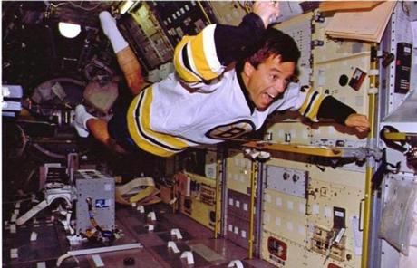 Canadian astronaut Robert Thirsk recreated Orr's goal while orbiting Earth in 1996, wearing one of Orr's game jerseys and his 1970 Stanley Cup ring.