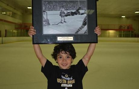 "Decades after his retirement, children like Gabe Elie, 7, still look up to Orr. ""Some kids at school talk about Justin Bieber,'' said his father, Joe Elie. ""Gabe wants to talk about Bobby Orr.''"