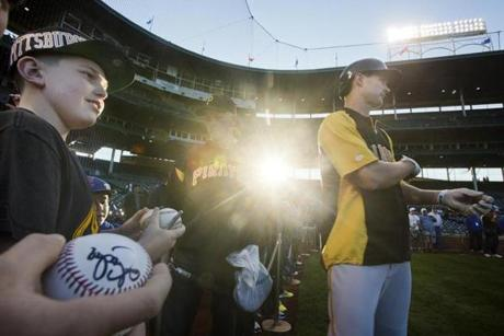 Pittsburgh Pirates fans flocked to Chicago to see their team.