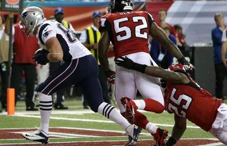 Patriots tight end Matthew Mulligan  grabbed the pass scored early in the second quarter.