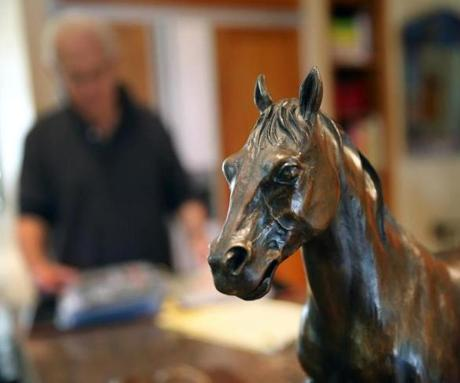 Bob Gaynor has made smaller models of the horse.