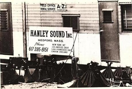 Hanley's sound trailer at the Woodstock festival.