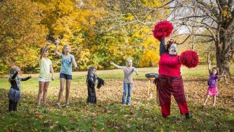 "Beth Randall taught the ""Monster Mash"" to children at Maudslay State Park."