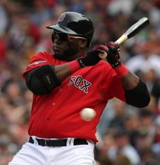 Ortiz pulled away from an inside pitch in the first inning.