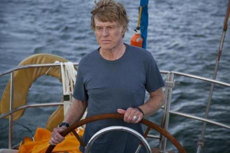 "Robert Redford starring in his new film, ""All Is Lost."""
