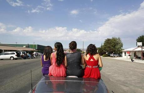 Members of the Distinguished Young Women of Mattawa rode in the Mattawa Community Days parade.