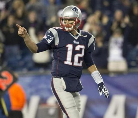 Brady pointed to his bench after the play.