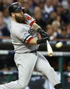 Mike Napoli hit  a home run in the seventh inning for the game's only run.