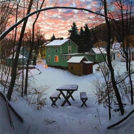 "Scott Prior's ""Winter Landscape,"" part of his show at Alpha Gallery."