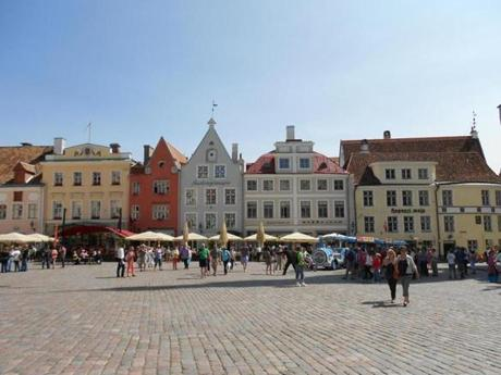 Across the gulf is Tallin, where tourists and residents mix on  Town Hall Square in the Estonian capital's 15th-century Old Town.