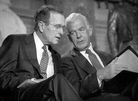 Speaker Foley sat with President George H.W. Bush in the Capitol Rotunda in 1991.