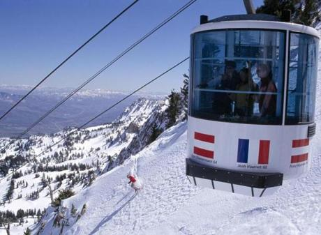 The tram at Snowbasin in Utah.