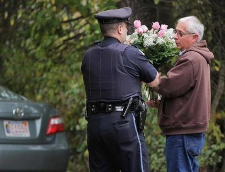 Flowers were delivered to the Andover home where Ritzer lived with her family.