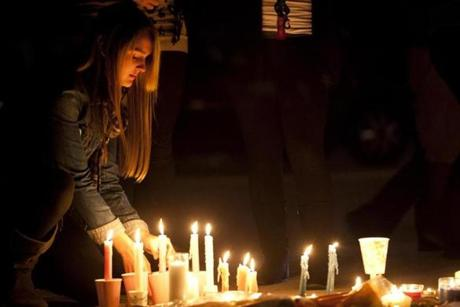 Brittany Hagman, 19, lit a candle for Ritzer.