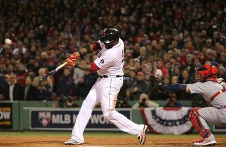 David Ortiz hit a two-run homer in the sixth inning.
