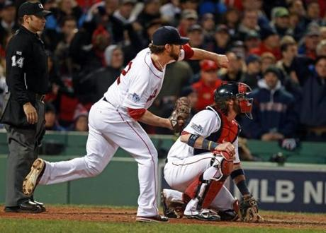 Pitcher Craig Breslow's throw to third base sailed into left field, and Jon Jay scored. The Red Sox lost their lead in the game.
