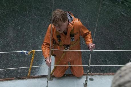 "Robert Redford is a nameless yachtsman slowly sinking into the Indian Ocean in ""All Is Lost."""